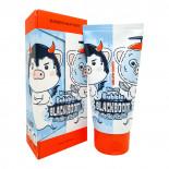 Черная кислородная маска для очищения пор | Hell-Pore Bubble Blackboom Pore Pack Elizavecca 150мл
