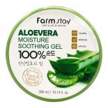 Многофункциональный гель с экстрактом алоэ | Aloe Vera Moisture Soothing Gel 100% Farm Stay 300мл
