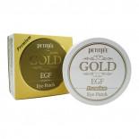 Гидрогелевые патчи с золотом Премиум   Hydro Gel Eye Patch Premium Gold and EGF Petitfree 60шт