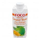 Кокосовая вода с манго (coconut water) Foco | Фоко  330мл
