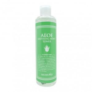 Натуральный увлажняющий тонер для лица с 98% экстрактом алоэ вера (Aloe Soothing Moist Toner) Secret Key | Сикрет Кей  248мл