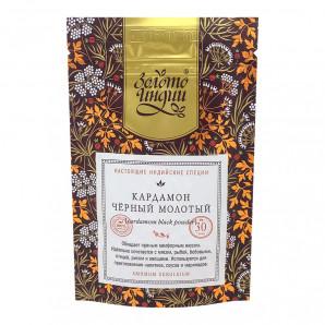 Кардамон черный молотый (ground black cardamoms) Золото Индии 30г