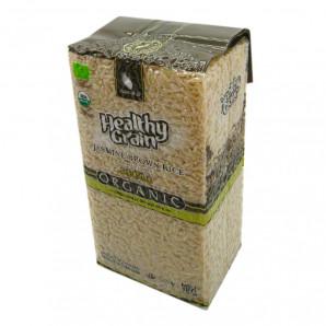 Коричневый рис жасминовый тайский органический (brown jasmine rice) Aroy-D | Арой-Ди 1кг