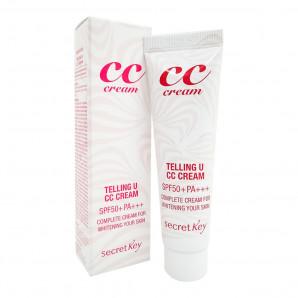 CC-крем для лица Увлажнение и сияние (Telling U CC cream SPF50+ PA+++) Secret Key | Сикрет Кей 30мл