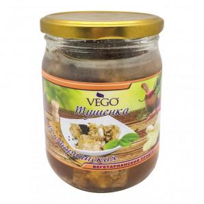 Вегетарианская тушенка с имбирем (soy meat) VEGO | ВЕГО 500г