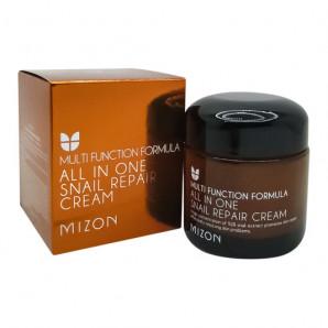 Восстанавливающий крем для лица с муцином улитки (Snail repair cream) Mizon | Мизон 75мл