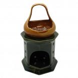 Аромалампа для эфирных масел «Чаша на Камине» керамика-глазурь