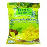 Кокосовые чипсы с ананасом (coconut chips) King Island | Кинг Айлэнд 40г