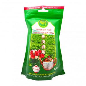 Зеленый чай с лепестками розы (green tea) Верблюд 100г