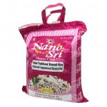 Непропаренный рис Басмати в малиновом мешке (basmati rice) Nano Sri | Нано Шри 5кг