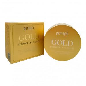Гидрогелевые патчи для глаз с золотом и муцином улитки (Gold hydrogel eye patch) Petitfee   Петитфи 60шт