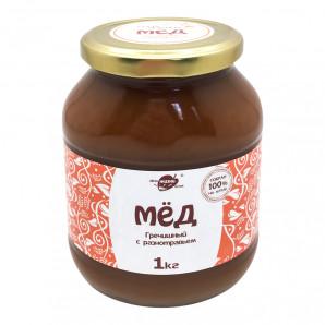 Гречишный мед Алтайский с разнотравьем (honey) LifeWay | Образ Жизни 1кг