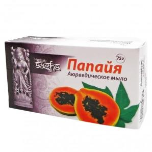 Аюрведическое мыло папайя (ayurvedic soap) Aasha | Ааша 75г