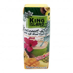 Кокосовая вода с ананасом, маракуйя, манго (coconut water) King Island   Кинг Айлэнд 250мл