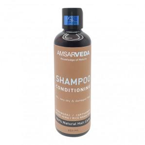 Кондиционирующий шампунь для волос с брингараджем, шафраном, алоэ вера и рисовым маслом (shampoo) Amsarveda | Амсарведа 250мл