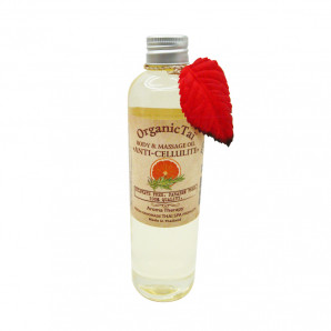 Антицеллюлитное масло для тела и аромамассажа (massage oil) Organic Tai | Органик Тай 260мл