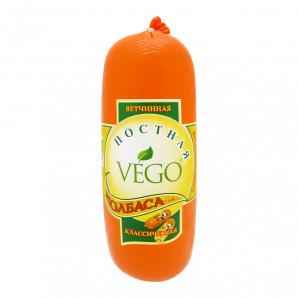 Веганская колбаса постная «ветчинная» классическая (vegan sausage) VEGO   ВЕГО 400г