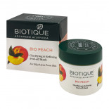 Пленочная маска для лица для жирной и проблемной кожи Био персик (face mask) Biotique | Биотик 50г