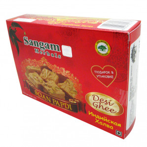 Индийская халва Соан Папди (Soan Papdi) Деси Гхи Sangam | Сангам 250г