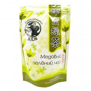 Зеленый чай медовый (green tea) Black Dragon | Блэк Драгон 100г