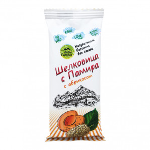 Батончик из шелковицы с абрикосом «Шелковица с Памира» Дары Памира 20г