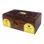 Чай Ассам и Нилгири черный в деревянной коробке (assam and nilgiri tea) Bharat Bazaar   Бхарат Базар 100г