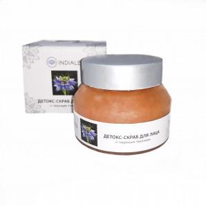 Детокс-скраб для лица с черным тмином (face scrub) Indiale | Индиал 50г