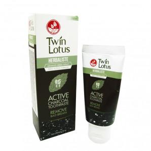 Зубная паста с углем (toothpaste) Twin Lotus   Твин Лотус 50г