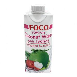 Кокосовая вода с соком личи (coconut water) Foco | Фоко 330мл