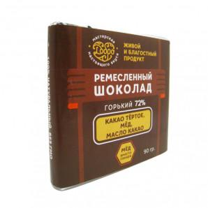 Горький шоколад на меду 72% (bitter chocolate) Добро 90г