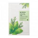 Тканевая маска для лица с комплексом травяных экстрактов ( Joyful time essence mask herb) Mizon | Мизон 23г