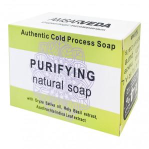 Аюрведическое мыло Тулси и Ним (ayurvedic soap) Amsarveda | Амсарведа 100г