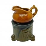 Аромалампа для эфирных масел Волшебный горшочек на камине керамика-глазурь