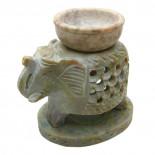 Аромалампа для эфирных масел «Каменная слон» 11см