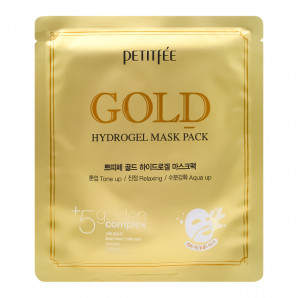 Гидрогелевая маска для лица с золотым комплексом (hydrogel mask) Petitfee | Петитфи 32г
