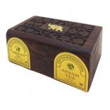 Чай Ассам и Дарджилинг черный в деревянной коробке (assam and dargeeling tea) Bharat Bazaar | Бхарат Базар 100г