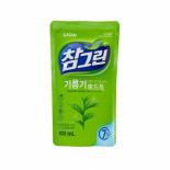 LION Chamgreen 800g refill Жидкость для мытья посуды с ароматом зеленого чая