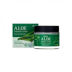 Ампульный крем для лица с экстрактом алоэ Aloe Ampule Cream Ekel 70мл