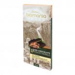 Шоколад темный с урбечем из абрикосовой косточки BIOMANIA 100% натуральный 110г