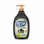 LION Chamgreen charcoal 1kg pump Жидкость для мытья посуды с экстрактом угля