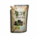 LION Chamgreen charcoal 1.2kg refill Жидкость для мытья посуды с экстрактом угля