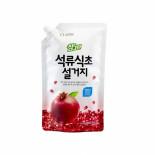 LION Chamgreen 900g refill (pomegranate) Жидкость для мытья посуды с ароматом граната