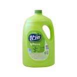 LION Chamgreen 3.1kg bottle pump Жидкость для мытья посуды с ароматом зеленого чая
