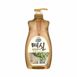 LION Chamgreen Japanese Apricot 1kg refill Жидкость для мытья посуды с ароматом абрикоса