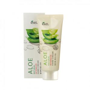 Питательный крем для рук с экстрактом алоэ Aloe Natural Intensive Hand Cream Ekel 100мл