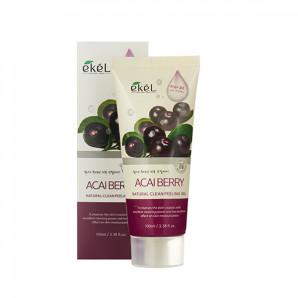 Пилинг-скатка с экстрактом ягод асаи Natural Clean peeling gel Acai Berry Ekel 100мл