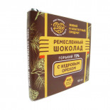 Шоколад на меду с кедровым орехом горький 72% 90г