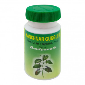 «Кончнар гуггулу» (Kanchnar Guggulu, Baidyanath) от варикоза и геморроя 80 таб.