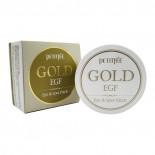 Гидрогелевые патчи с золотом   Premium Gold & EGF Eye Patch Petitfee 60шт